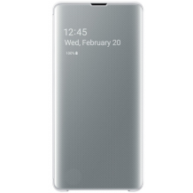 Samsung Galaxy S10+ Clear view cover - White-1