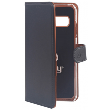 Samsung Galaxy S10 flipcover Celly Wally Case - Sort-1