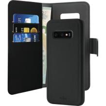Samsung Galaxy S10 Magnet pung taske og cover 2-i-1 fra Puro - Sort-1