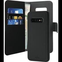 Samsung Galaxy S10+ (Plus) Magnet pung taske og cover 2-i-1 fra Puro - Sort-1