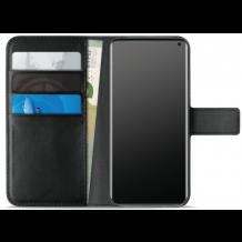 Samsung Galaxy S10+ (Plus) Puro Milano Wallet flipcover med 3 Kreditkortlommer - Sort-1