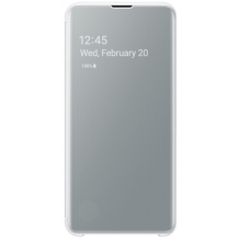 Samsung Galaxy S10E Clear view cover - White-1