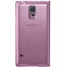 Samsung Galaxy S5 S-view cover originalt Glam Pink-1