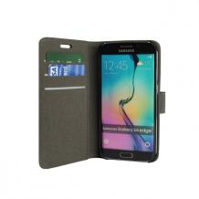 Samsung Galaxy S6 Edge flipcover Redneck Prima Wallet Folio Sort-1