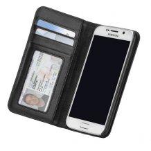 Samsung Galaxy S6 Pung Case-mate Wallet Folio i ægte læder Sort