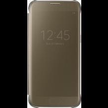Samsung Galaxy S7 Clear View Flip Cover, Originalt EF-ZG930CF Guld-1