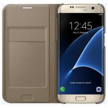 Samsung Galaxy S7 Edge Flip Wallet Originalt EF-WG935PF Guld-1