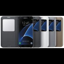 Samsung Galaxy S7 Edge S View Flip Cover Originalt EF-CG935PS Sølv-1