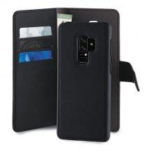 Samsung Galaxy S9+ Magnet pung taske og cover 2-i-1 fra Puro - Sort-1