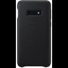 Samsung Læder Cover Til Samsung Galaxy S10e, Sort-1