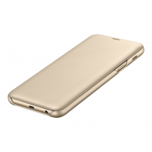 SAMSUNG WALLET COVER (GALAXY A6+ GOLD)-1