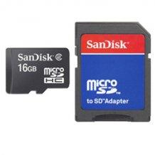 SANDISK MICROSDHC (16GB & SD ADAPTER)-1