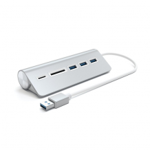 Satechi Aluminum USB 3.0 Hub & Card Reader-1