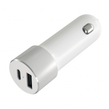 Satechi USB-C Car Charger Adapter with USB-C and Standard USB-A Outputs 48 Watt-1