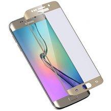 Sikkerhedsglas Full Fit Guld til Samsung Galaxy S6 Edge