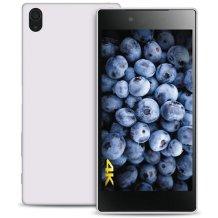 Silikone cover til Sony Xperia Z5 Premium, Puro Ultra Slim 0.3, Gennemsigtig, Hvid-1