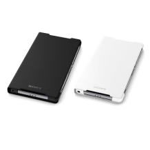 Sony - SCR10 Style - Book Case with Stand - Sony Xperia Z2 - White-1