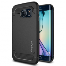 Spigen Rugged Armor cover til Samsung Galaxy S6 Edge - Sort-1