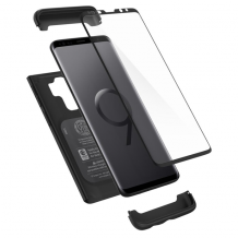 Spigen Thin Fit 360 (Glass Screen Protector) for Galaxy S9+ black-1