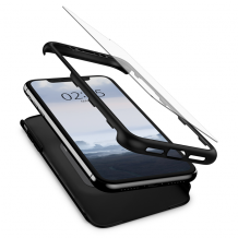 Spigen Thin Fit 360(Glass Screen Protector for iPhone XR black-1