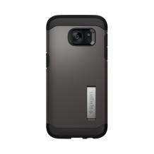 Spigen Tough Armor til Samsung Galaxy S7 Edge Sort/Gun Metal-1
