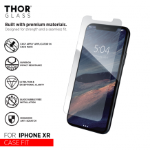 THOR CF Glass with Applicator for iPhone XR clear-1