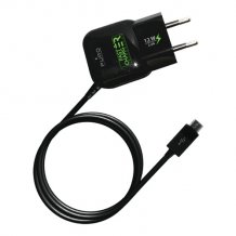 Uni. Fast Travel Charger Micro USB 2.4A Black-1