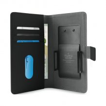 Uni. Wallet PU XXL w/Sliding Holder & Card Slots Black-1