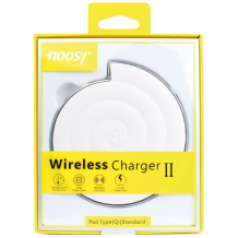 Universal Trådløs Oplader Noosy QI Wireless Charger Hvid-1