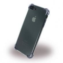 UreParts - Black Corner Silicone Cover / Phone Case - Apple  iPhone 7 Plus, 8 Plus - Transparent Black-1