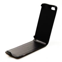 UreParts/Konkis Flip Cover til iPhone 5/5S/SE Sort-1