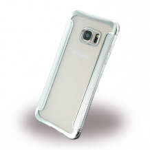 UreParts - Shockproof Anti-slip - Silicone Cover / Phone Skin - Samsung G935F Galaxy S7 Edge - Silver-1