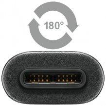USB C Superspeed+ plug til USB data- og ladekabel 0,5 meter-1