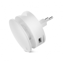 Usbepower AERO MINI - Dual USB roll charger with iPhone stand and cable roller-1