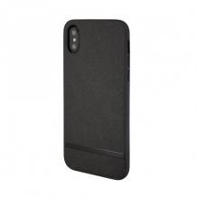 Uunique - Key Line II Saffiano Hard Shell Case - Hardcover - Apple iPhone XS Max - black-1