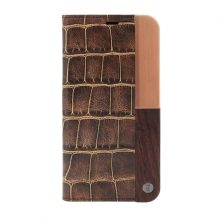 Uunique - Luxe Croc - Book Cover - Apple iPhone X - Brown-1