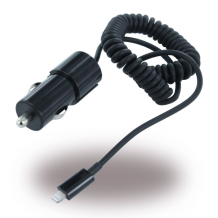 UUnique MFI (Made for iPhone) - UUIP5CC02 - Duo Car Charger to Lightning - 1000 mAh - Black-1