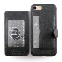 Uunique - Multi Pocker UUFMIP7HS013 - Leather Hard Cover - Apple iPhone 7 - Black-1