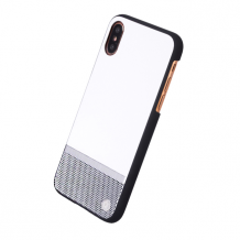 Uunique - Perforation - Hard Cover - Apple iPhone X - White/Silver-1