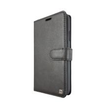 Uunique - Protective Echtes Leder Folio Book Case - Apple iPhone XR - black-1