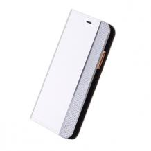 Uunique - Silber Ash Edge - Book Cover - Apple iPhone X - White-1