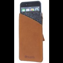 Valenta Pocket Raw 37 etui i ægte læder til iPhone 6/6S med flere Cognac Brun-1