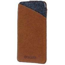 Valenta Pocket Raw 37 etui i ægte læder til iPhone 6/6S med flere Cognac Brun