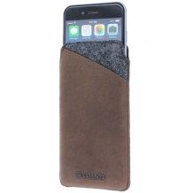 Læder taske til iPhone 6 / 6S Valenta Pocket Raw Vintage Brown