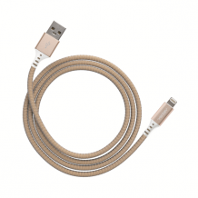 Ventev charge & sync cable 4ft lightning gold colored-1