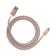 Ventev charge & sync cable 4ft lightning rose gold col.-1