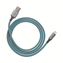 Ventev charge & sync cable 4ft USB-A to USB-C cobalt-1
