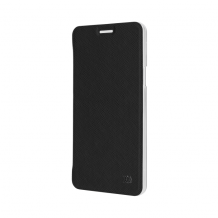 XQISIT Flap Cover Adour for Galaxy A3 (2016) black-1