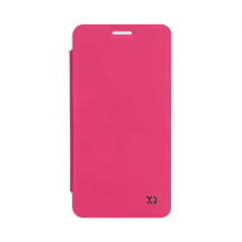 XQISIT Flap Cover Adour for Galaxy A3 (2016) pink-1