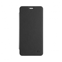 XQISIT Flap Cover Adour for Galaxy A8 (2018) black-1